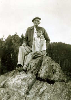 Great grandfather and me at the Continental Divide in Colorado -- 1952 -- a place from which to move on